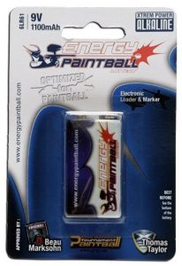 Energy Paintball XP bateria 9V