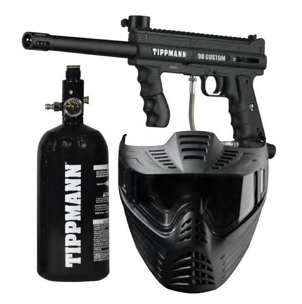 Zestaw Tippmann 98PS ACT+ maska Vforce Sentry+48/3000 psi +loader 200